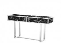 Casa Padrino Luxus Konsole 150-214 x 40, 5 x H. 78 cm - Luxus Qualität