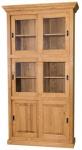 Casa Padrino Landhausstil Bücherschrank Hellbraun 110 x 40 x H. 210 cm - Wohnzimmerschrank mit 6 Schiebetüren