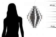 Casa Padrino Designer Pendelleuchte aus gebürstetem Aluminium, Silber - Leuchte Lampe