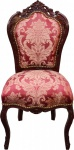 Casa Padrino Barock Esszimmer Stuhl Bordeaux Muster / Braunrot - Antik Möbel - Limited Edition