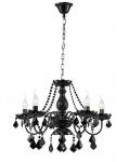 Casa Padrino Barock Kristall Decken Kronleuchter Schwarz 60 x H 45 cm Antik Stil - Möbel Lüster Leuchter Hängeleuchte Hängelampe