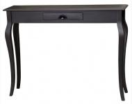 Casa Padrino Badezimmerkonsole mit Schublade in schwarz 120 x 30 x H. 90 cm - Jugendstil Möbel