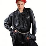 Campbell Renaissance Piraten Shirt - Black
