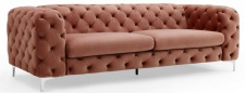 Casa Padrino Chesterfield Sofa in Apricot 238 x 97 x H. 73 cm - Modern Chesterfield