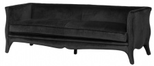 Casa Padrino Luxus Sofa Schwarz 225 x 79 x H. 75 cm - Hotel Möbel
