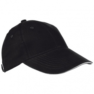 Baumwoll-Basecap 6 Panel heavy-brushed Cotton / Farbe: schwarz