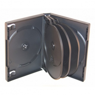 XLayer 8fach 8er DVD CD Box Hüllen black