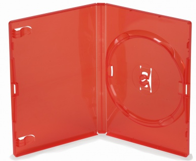 5 Amaray DVD CD Hüllen 14mm single red