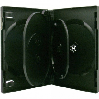 4 XLayer 5fach 5er DVD CD Box Hüllen black