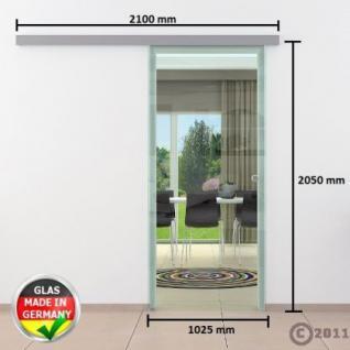 Glasschiebtür 1025 x 2050 mm Klarglas DORMA AGILE 50 - Vorschau 4