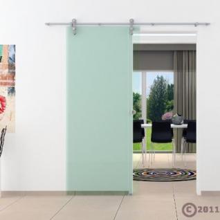 Glasschiebtür 1025 x 2050 mm Klarglas Edelstahlsystem - Vorschau 2