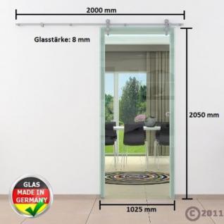 Glasschiebtür 1025 x 2050 mm Klarglas Edelstahlsystem - Vorschau 4