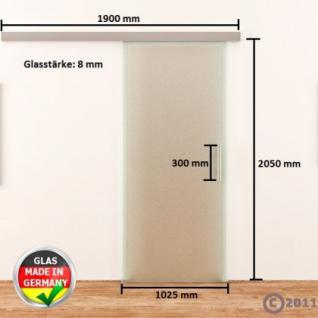 Glasschiebetür komplett satiniert DORMA AGILE 1025x2050 - Vorschau 4