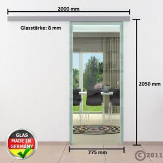 Glasschiebtür 775 x 2050 mm Klarglas Griffmuschel Edel. - Vorschau 4