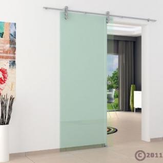 Glasschiebtür 775 x 2050 mm Klarglas Edelstahlsystem - Vorschau 3
