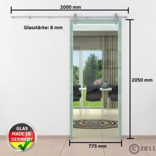 Glasschiebtür 775 x 2050 mm Klarglas Edelstahlsystem - Vorschau 4