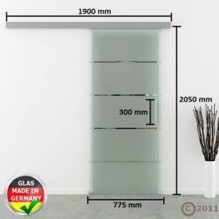 GlasschiebetÜr Modell Dorma Agile 50 Glas Streifen - Vorschau 4