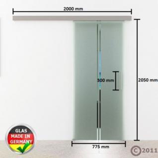 Glas Schiebtür m. Stangengriff 775 x 2050 x 8 mm - Vorschau 4