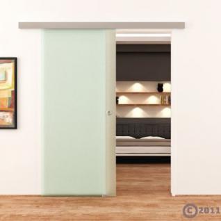 Glasschiebetür 775x2050mm Voll-Satiniert Griffmuschel - Vorschau 2