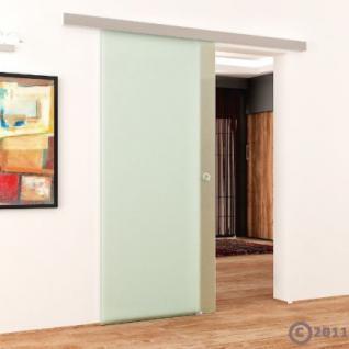 Glasschiebetür 775x2050mm Voll-Satiniert Griffmuschel - Vorschau 3