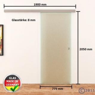 Glasschiebetür 775x2050mm Voll-Satiniert Griffmuschel - Vorschau 4
