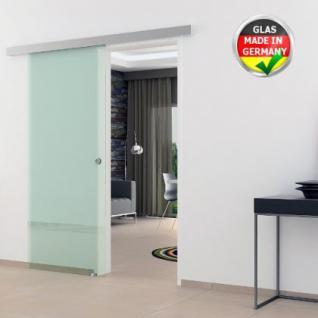Glasschiebtür 900 x 2050 mm Klarglas Griffmuschel Edel. - Vorschau 1
