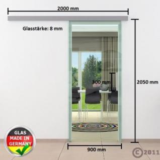 Glasschiebtüren 900 x 2050 x 8 mm Klarglas Stangengriff - Vorschau 4