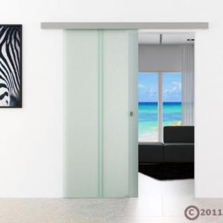 Schiebetür Glas 900 x 2050 x 8 mm senkrecht gestreift - Vorschau 2