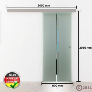 Schiebetür Glas 900 x 2050 x 8 mm senkrecht gestreift - Vorschau 4