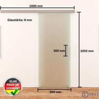 Ganzglasschiebetür ESG 900x2050mm Satiniert Edelstahl - Vorschau 4