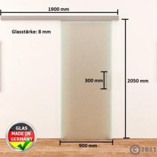 Glasschiebetür komplett satiniert DORMA AGILE 900x2050 - Vorschau 4
