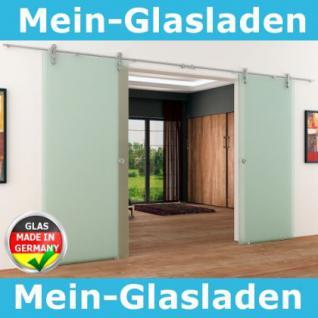 2 Glasschiebetüren Voll-Satiniert 2050x2050 Muschelgr.