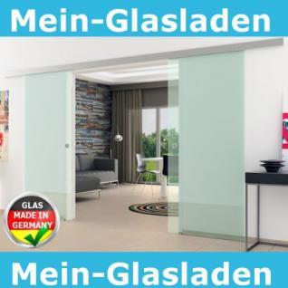 DORMA AGILE 50 Klarglas-Doppelschiebetür 2x900x2050mm Muschelgriff Edelstahl - Vorschau 1