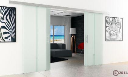 Glasschiebetür 2-Flügelig DORMA AGILE 50 | 900 x 2050mm | Stangengriffe - Vorschau 3
