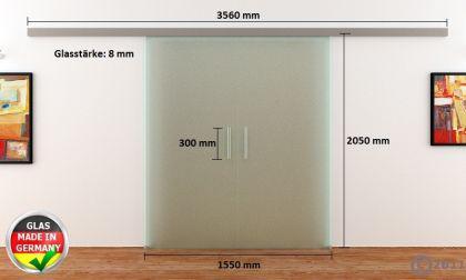 Glasschiebetüren 2x775x2050mm 2-flügelig Stangengriff - Vorschau 4