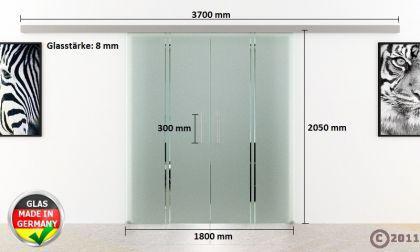 Glasschiebetür 2-Flügelig DORMA AGILE 50 | 900 x 2050mm | Stangengriffe - Vorschau 4