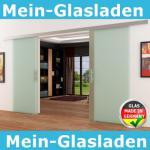 Glasschiebetüren 2x1025x2050mm 2-flügelig Stangengriff