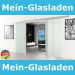 Doppel-Glasschiebetür 2x1025x2050mm 2-flügelig gestreift