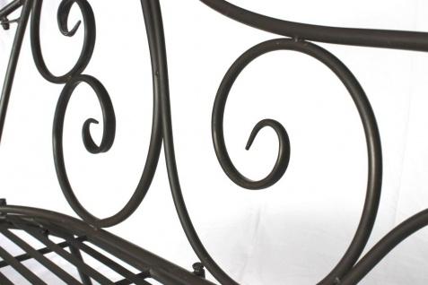 DanDiBo Gartenbank Metall Wetterfest Braun 120 cm Bank Sitzbank 2-Sitzer DY140486 Metallgartenbank mit Rückenlehne Parkbank Garten Antik - Vorschau 5
