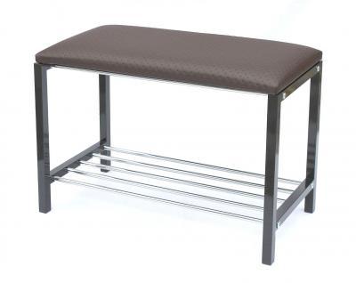 Schuhregal mit Sitzbank Art.391 Bank 70cm Schuhschrank aus Metall Schuhablage - Vorschau 2
