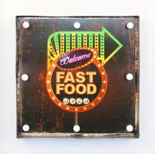 Leuchtschild 237681 FAST FOOD Wandschild LED Schild aus Metall 40 cm Display - Vorschau 5