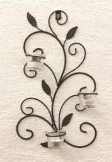 Wandteelichthalter 131004 Teelichthalter aus Metall 45cm Wandleuchter Kerzenhalter - Vorschau 5
