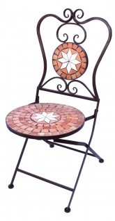Stuhl Mosaik Merano 12002 Gartenstuhl H-93cm Metall Gartenmöbel Klappstuhl