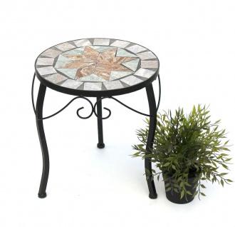 Blumenhocker Mosaik Rund 33 cm Blumenständer 17828 Beistelltisch Pflanzenständer Mosaiktisch Klein