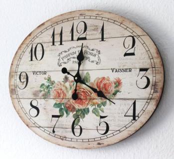 Wanduhr Rose Loft 84631 Quarzuhr Ellipse B-49cm Uhr Designuhr Vintage Shabby - Vorschau 5