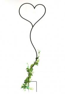 DanDiBo Rankhilfe Herz Kletterhilfe aus Metall 147 cm Bodenstecker Stecker Rankgitter
