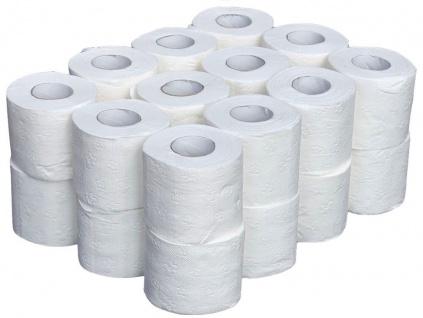 24x Toilettenpapier 3-lagig Großpackung 160 Blatt Klopapier Weiß WC-Papier Klorollen