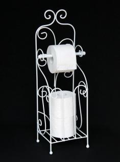 DanDiBo Toilettenpapierhalter Antik Weiß Metall HX13608 WC Rollenhalter Freistehend Vintage WC Papierhalter Shabby Chic ?