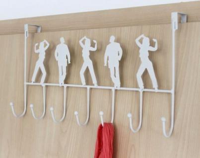 Türgarderobe 131017 Türhaken 42cm Weiß Garderobe Kleiderhaken Haken Hakenleiste - Vorschau 4