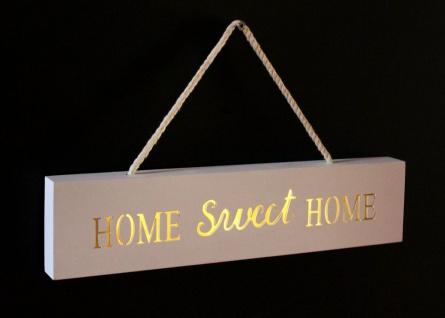 Leuchtschild Home Sweet Home 19957 LED Schild 35cm Display aus MDF Hängeschild